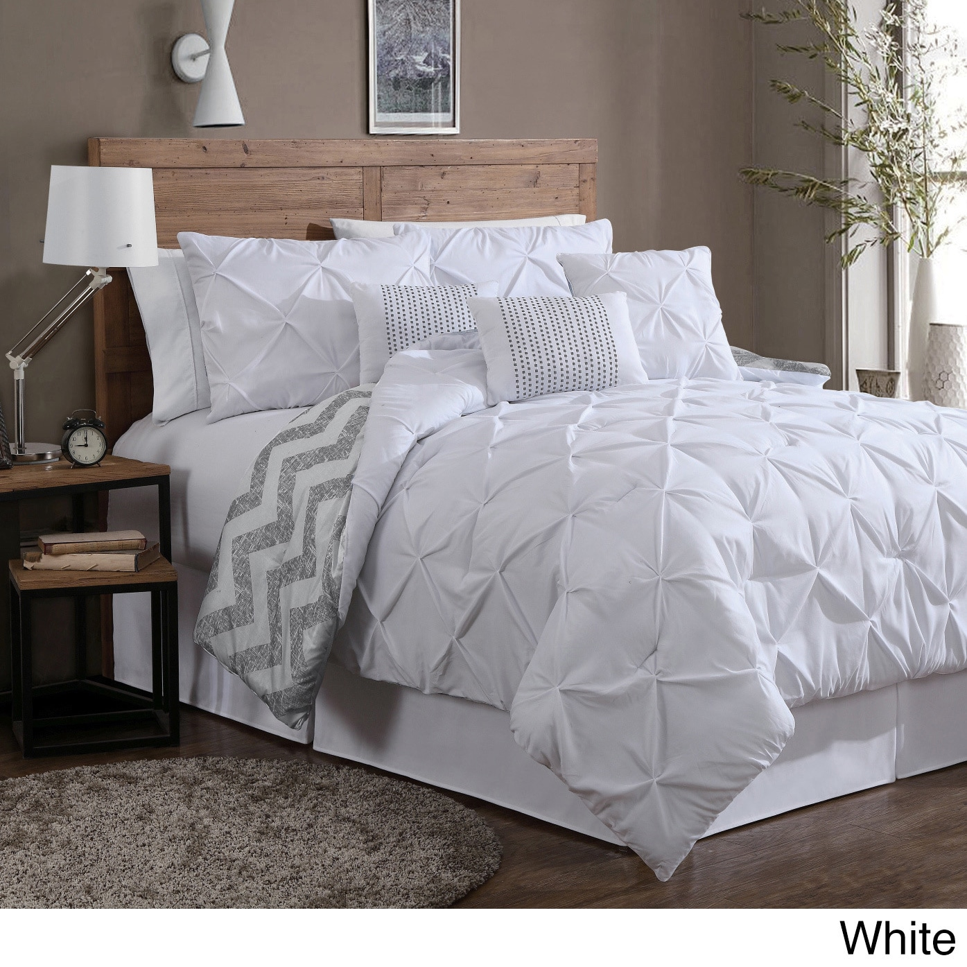 Avondale Manor Ella Pinch Pleat Reversible 7-piece Comforter Set ...