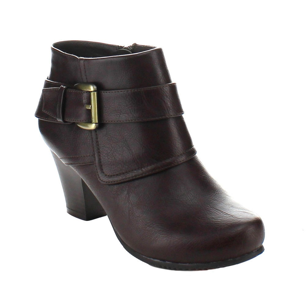 Shop Bonnibel Women's 'Dara-1' Chunky Heel Ankle Booties - Free Shipping On  Orders Over $45 - Overstock.com - 9495408