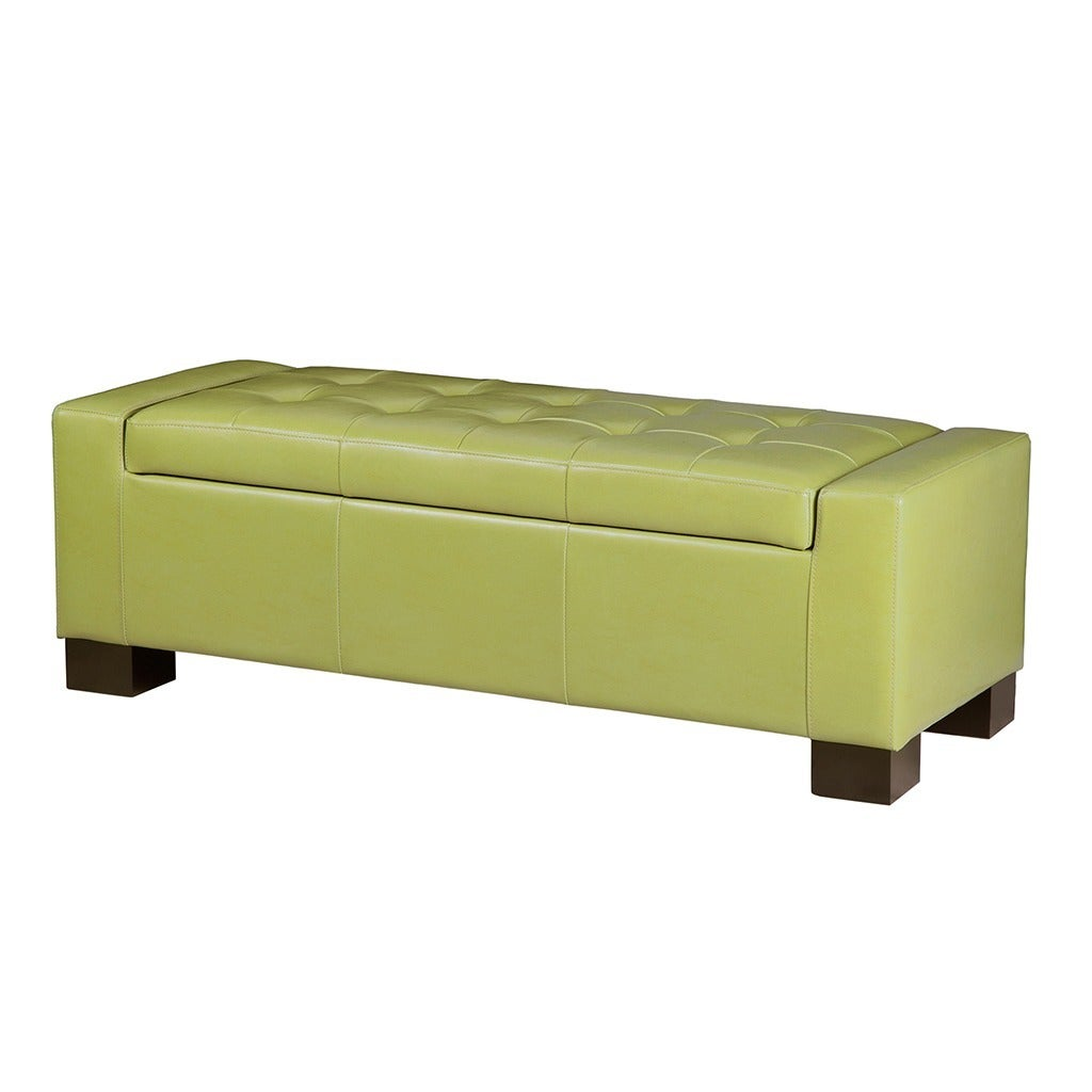 Shop Madison Park Mirage Bench Storage Ottoman With Tufted Top   On Sale    Free Shipping Today   Overstock.com   9495417