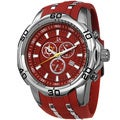 Joshua & Sons Men's Bold Swiss Quartz Chronograph Date Red Strap Watch