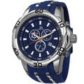Joshua & Sons Men's Bold Swiss Quartz Chronograph Date Blue Strap Watch