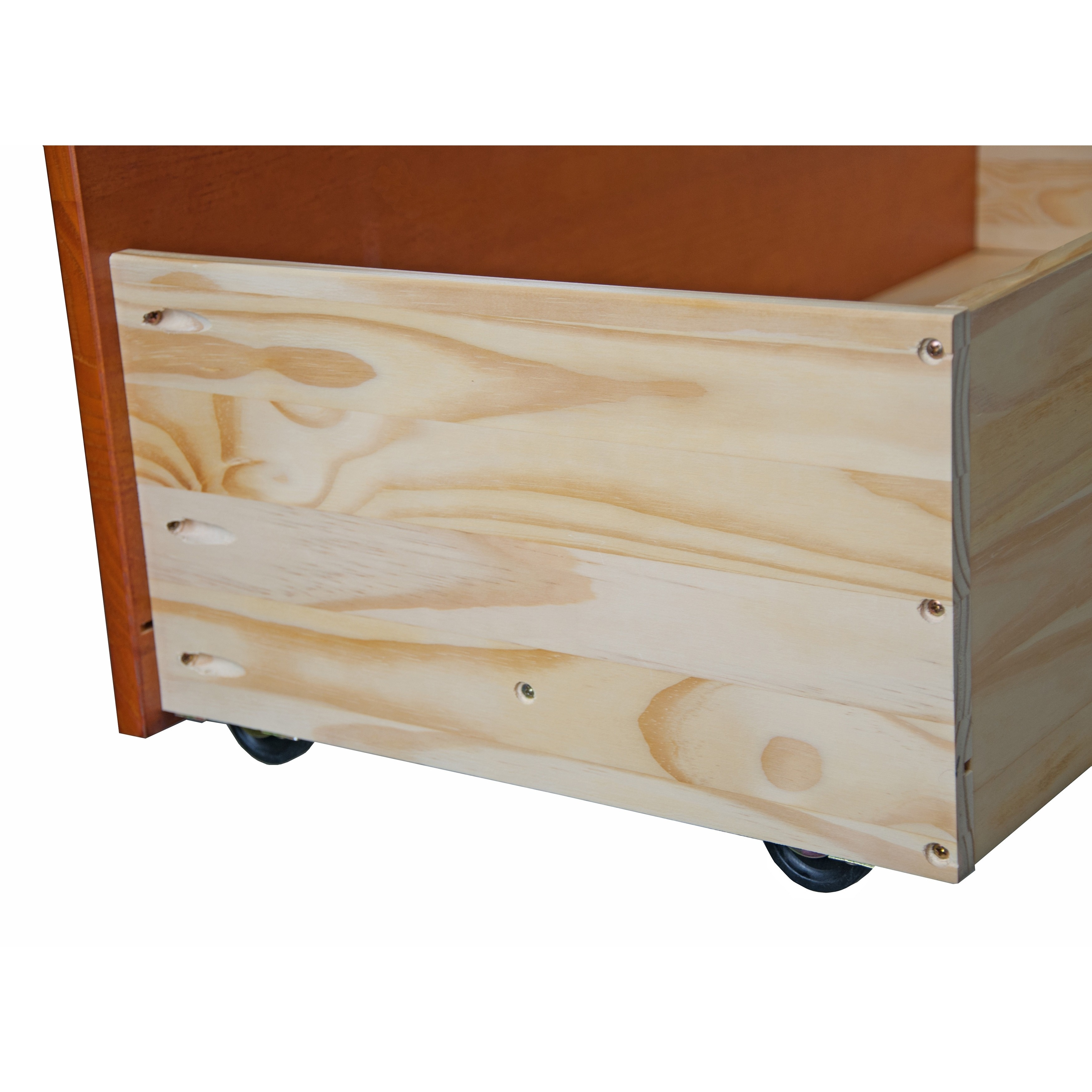 Shop Solid Wood Set Of 2 Underbed Drawers On Wheels   Free Shipping Today    Overstock.com   9497974