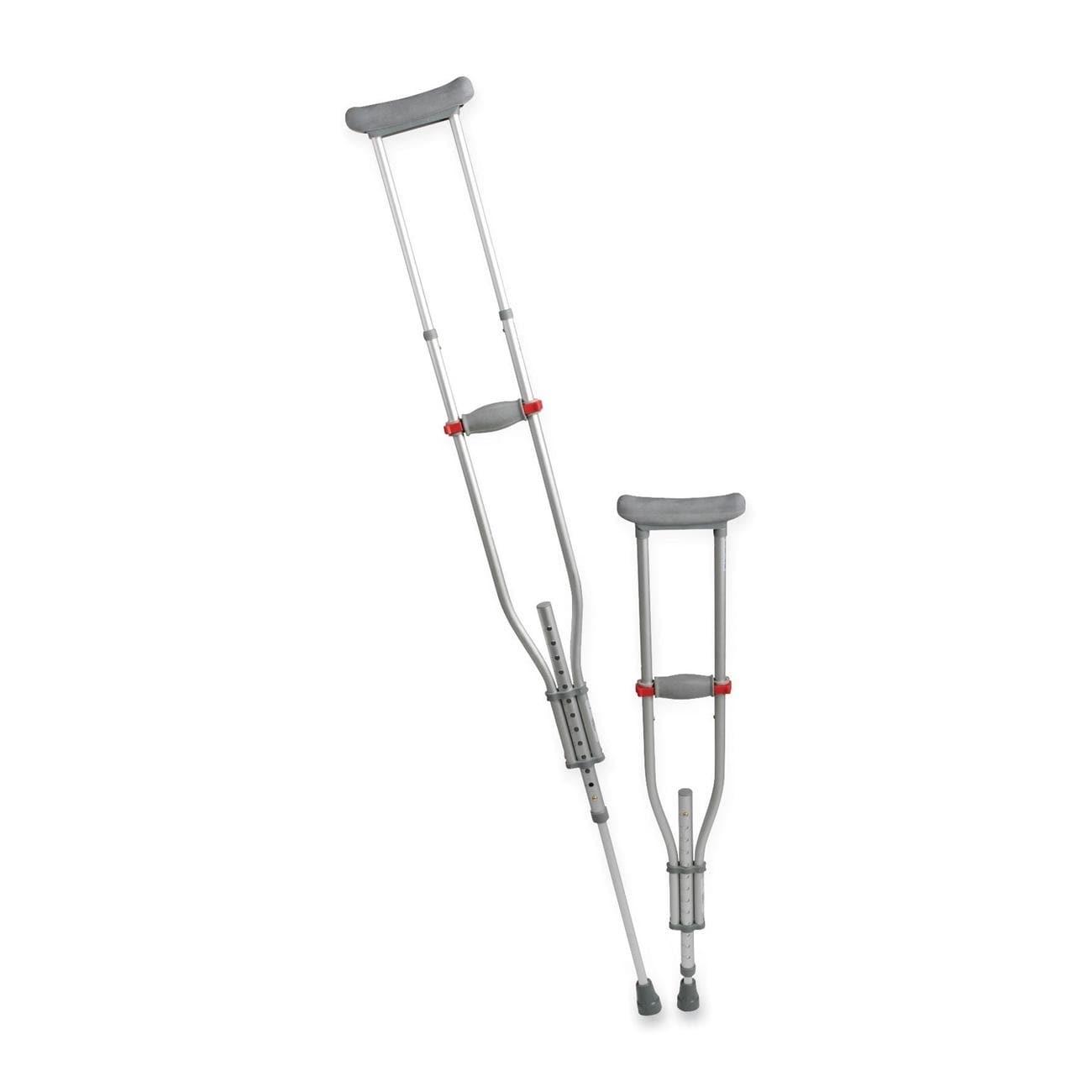 Amazon. Com: medline mds80540 quick-fit aluminum crutches: health.