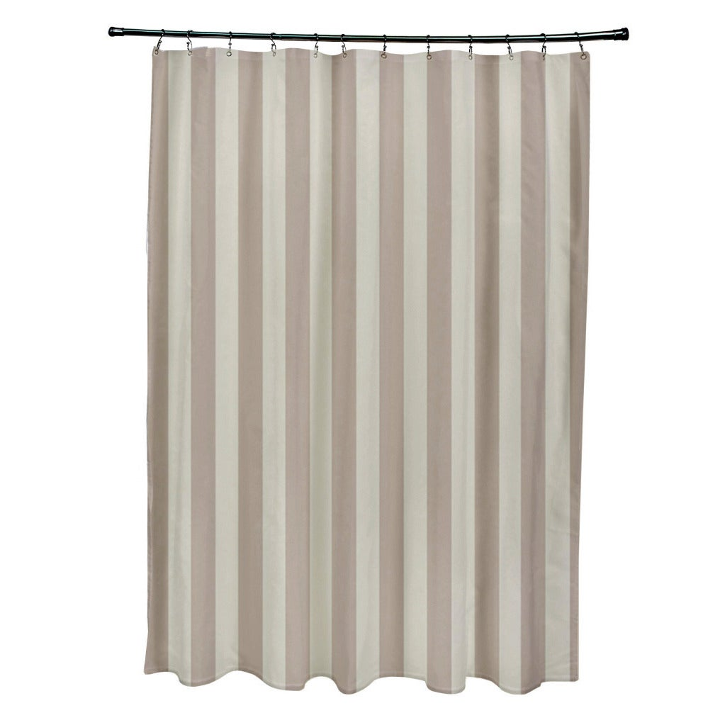 Shop 71 x 74-inch Two-tone Neutral Striped Shower Curtain - Free ...