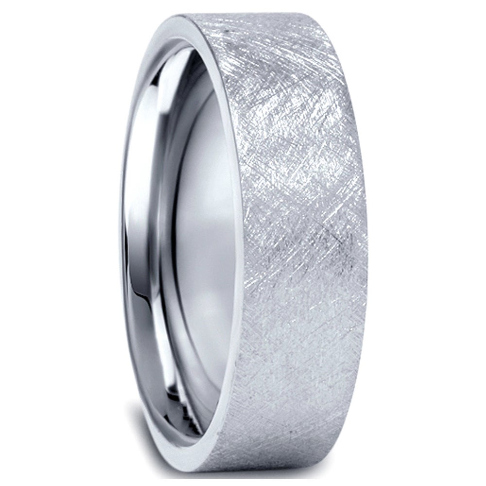 platinum center ring carbide tungsten wedding w loading bands band raised white zoom