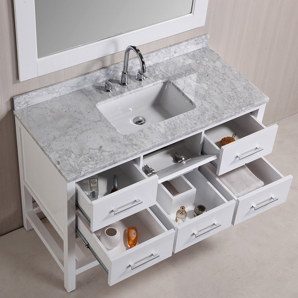 Sink And Vanity Set. Design Element London 48 inch White Single Sink Vanity Set with Mirror  Free Shipping Today Overstock com 16686429