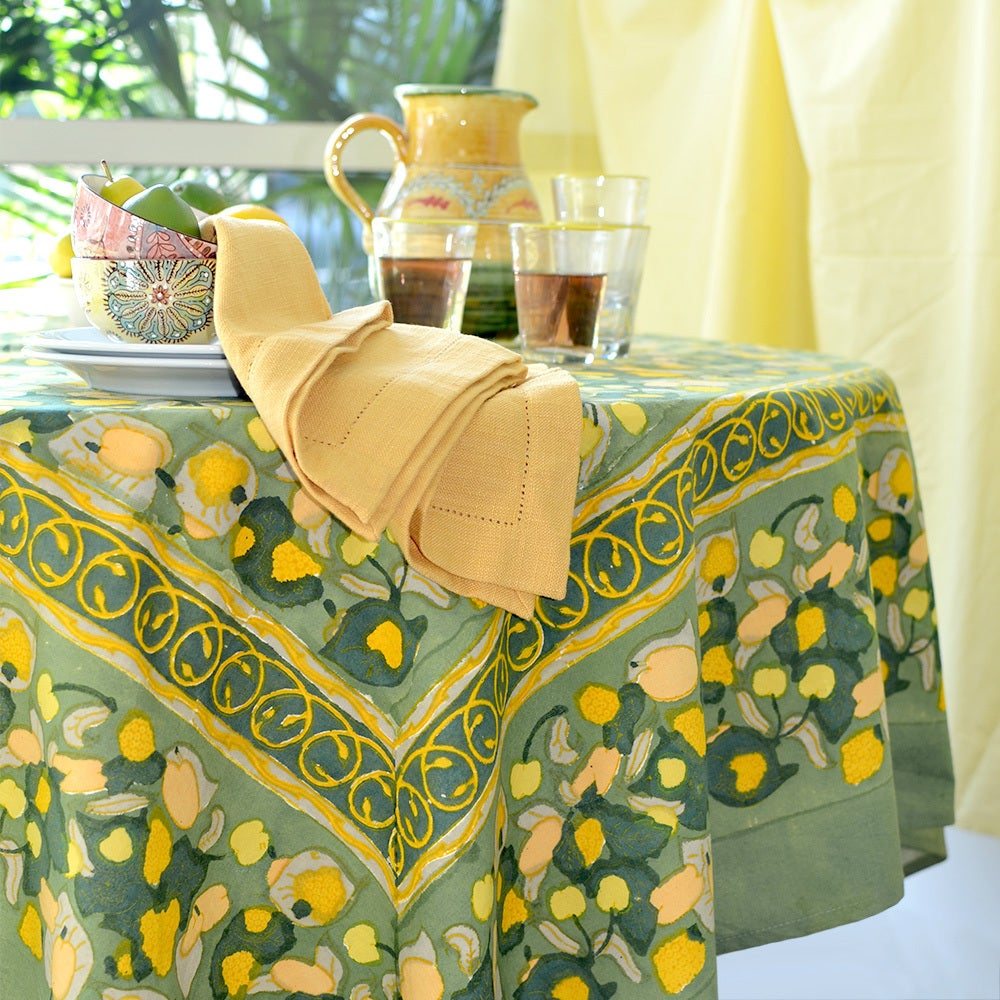 Shop Couleur Nature Fruit 90 Inch Round Tablecloth   Free Shipping Today    Overstock.com   9505946