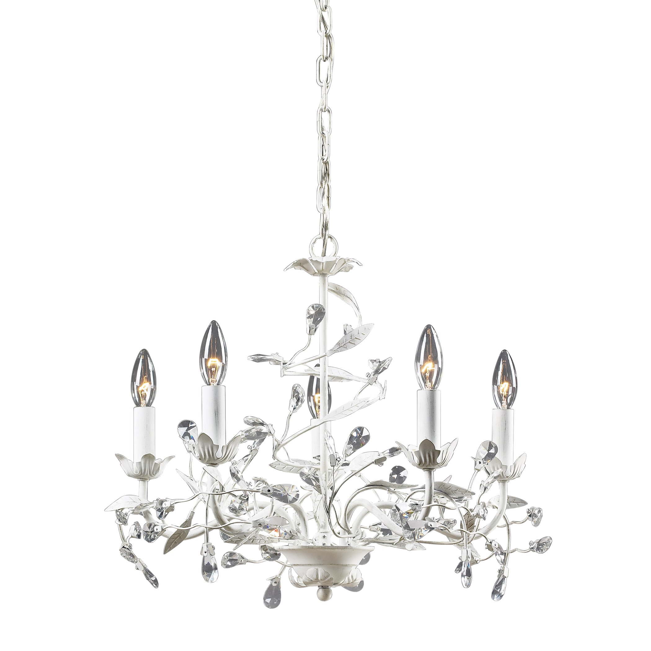 Elk Lighting Circeo Antique White 5 light Chandelier Free