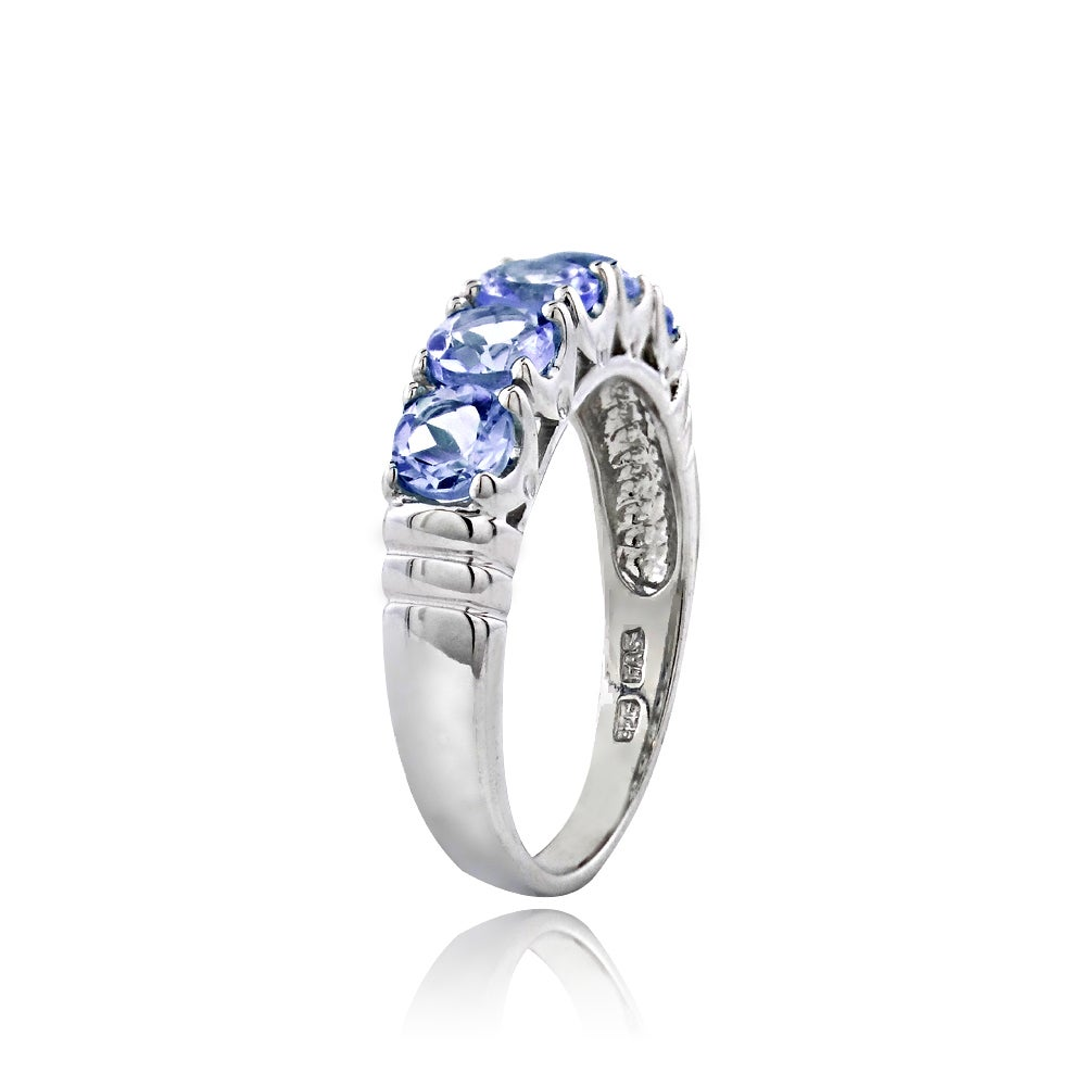 jewelry overstock shipping watches silver glitzy eternity on tanzanite product rocks ring sterling orders real free over stone