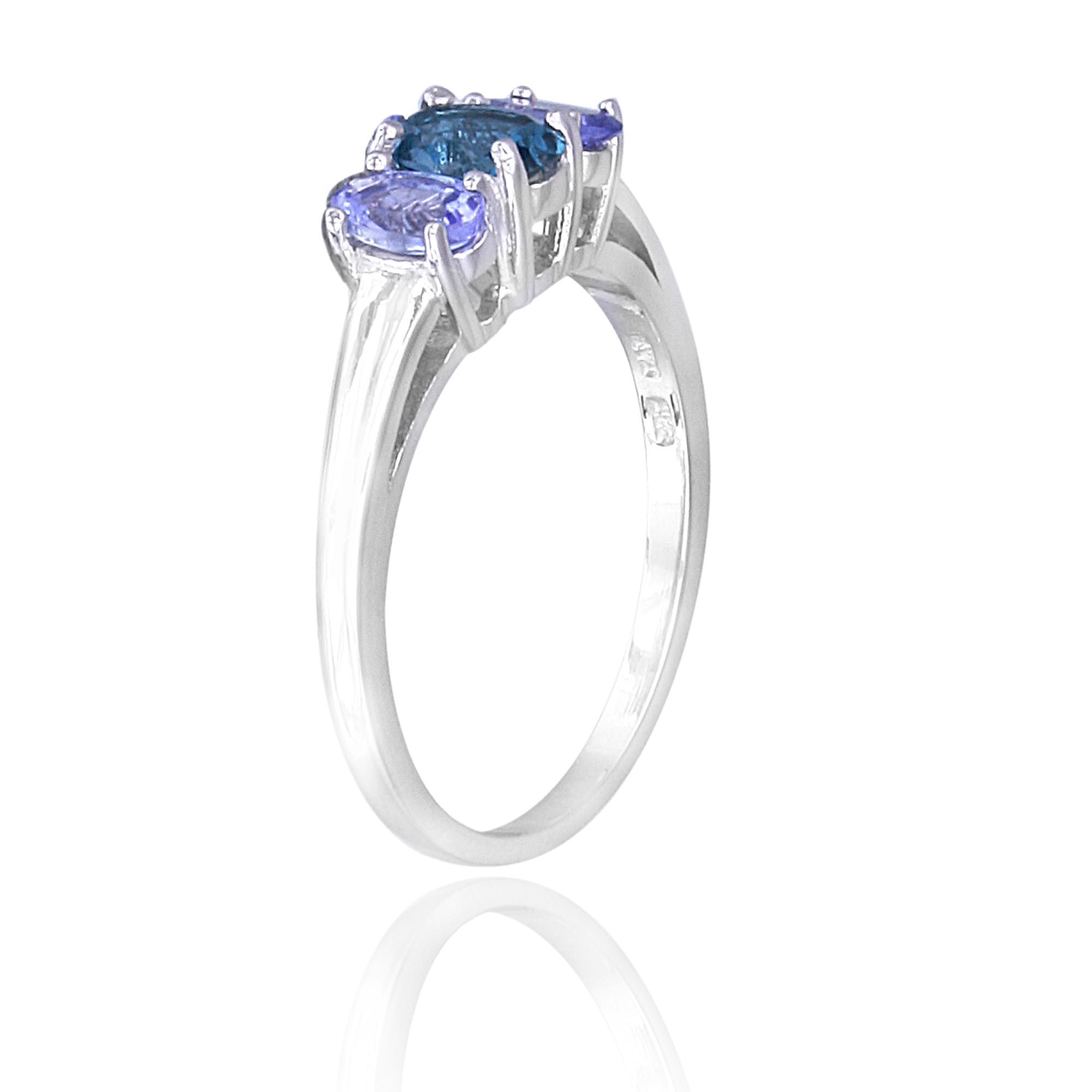 Glitzy Rocks Sterling Silver Tanzanite and London Blue Topaz 3