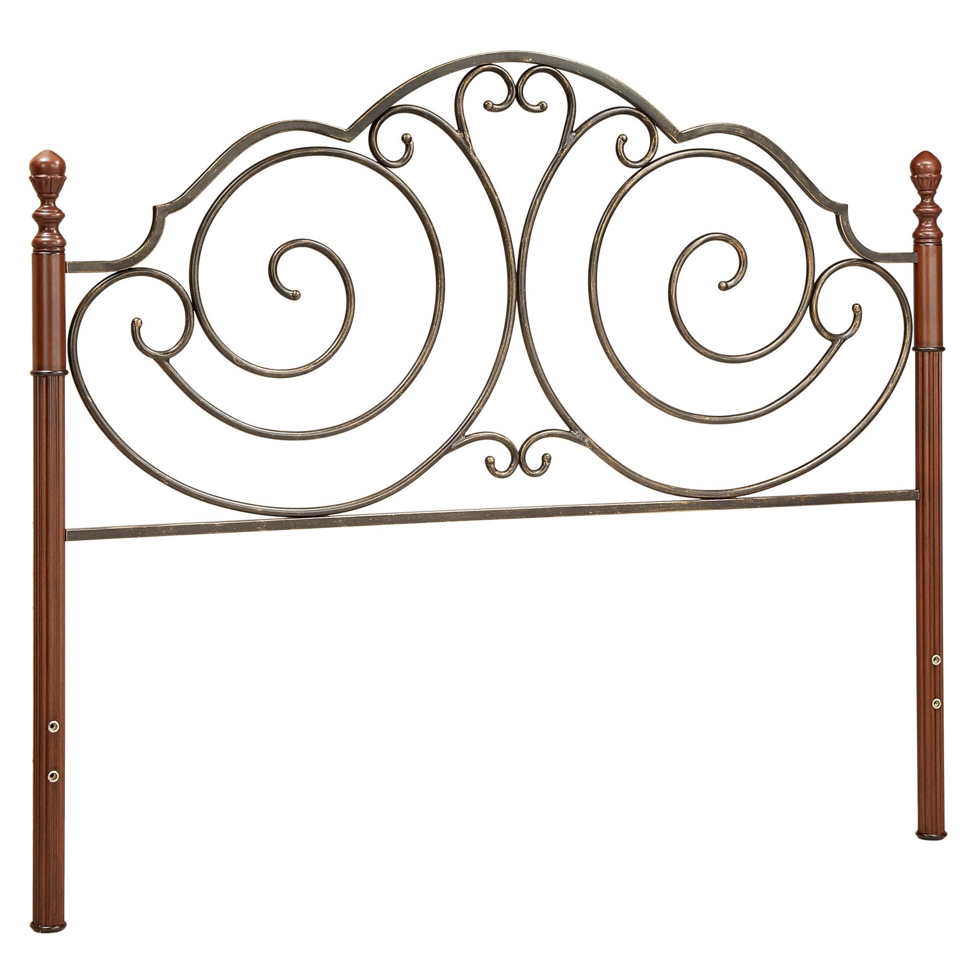 Leann Brown Metal Headboard By Inspire Q Clic Free Shipping Today 16686459
