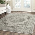 Safavieh Vintage Grey/ Multi Distressed Silky Viscose Rug (8' Square)