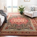 Safavieh Mahal Traditional Grandeur Red/ Red Rug (6'7 x 9'2)