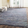Safavieh Hand-woven Rag Rug Ink/ Multi Cotton Rug (4' Square)