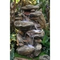 Rock Waterfall Fountain with LED Light