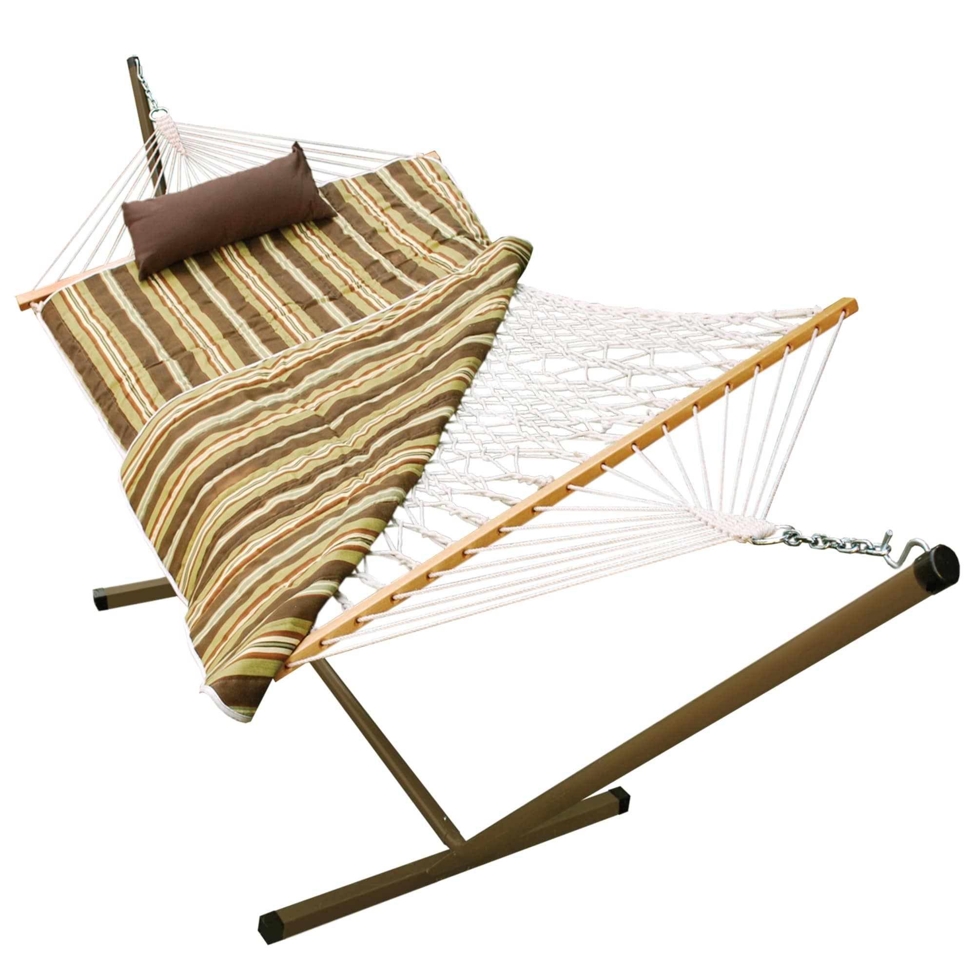 stand hammocks wooden deluxe arc hatteras wood alone deluxecombo roman xx cypress hammock with rope