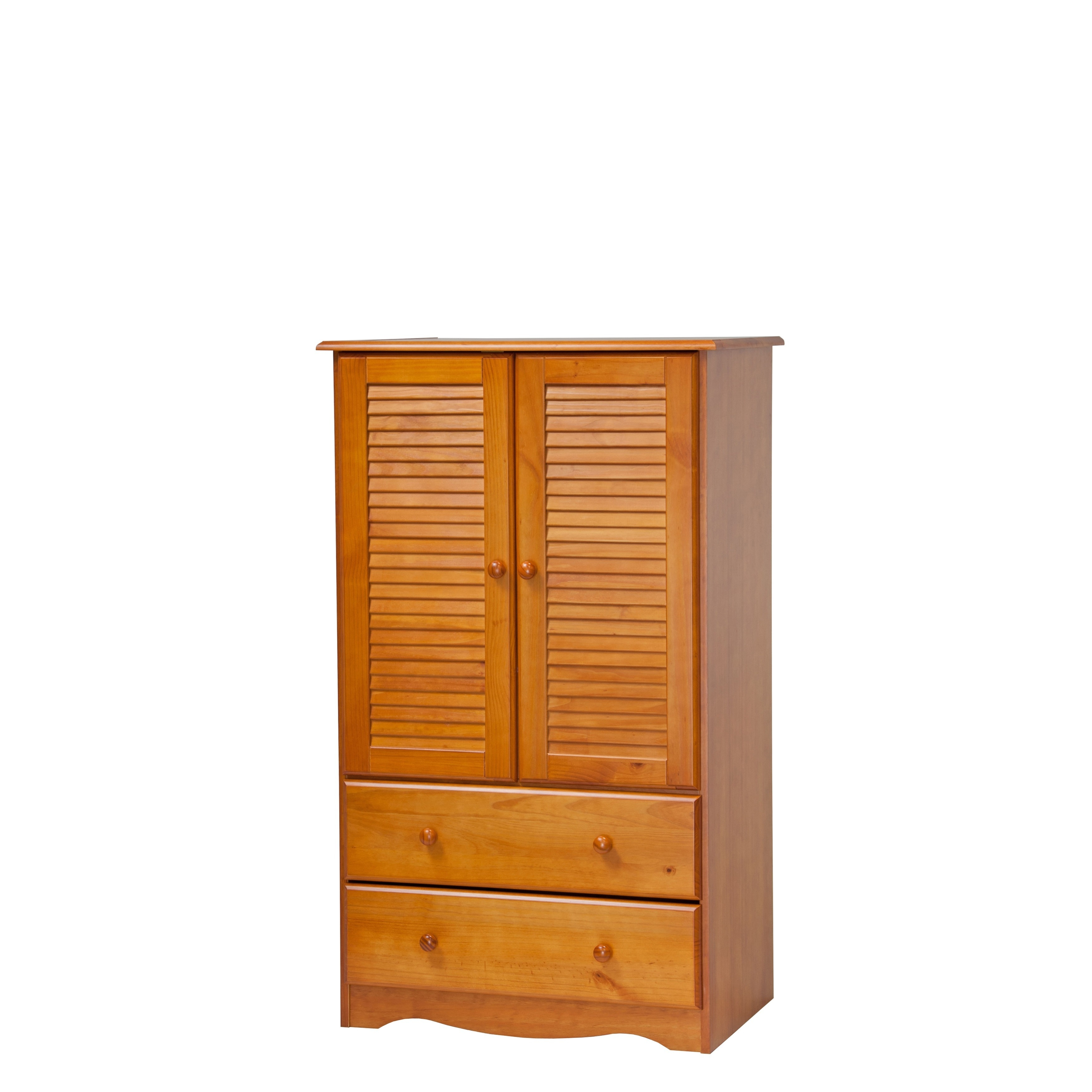 Merveilleux Palace Imports Petite Solid Wood Armoire   Free Shipping Today    Overstock.com   16692366