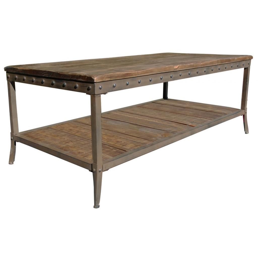 Beau Trenton Distressed Pine Coffee Table   Free Shipping Today   Overstock    16692982