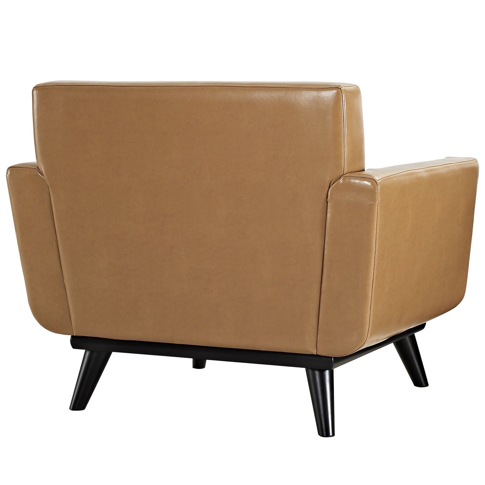 Exceptionnel Shop Palm Canyon Chorro Mid Century Tan Leather Armchair   On Sale   Free  Shipping Today   Overstock.com   9514344