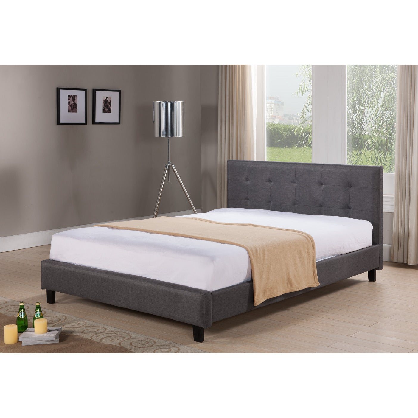 dg casa hudson grey platform bed free shipping today overstock