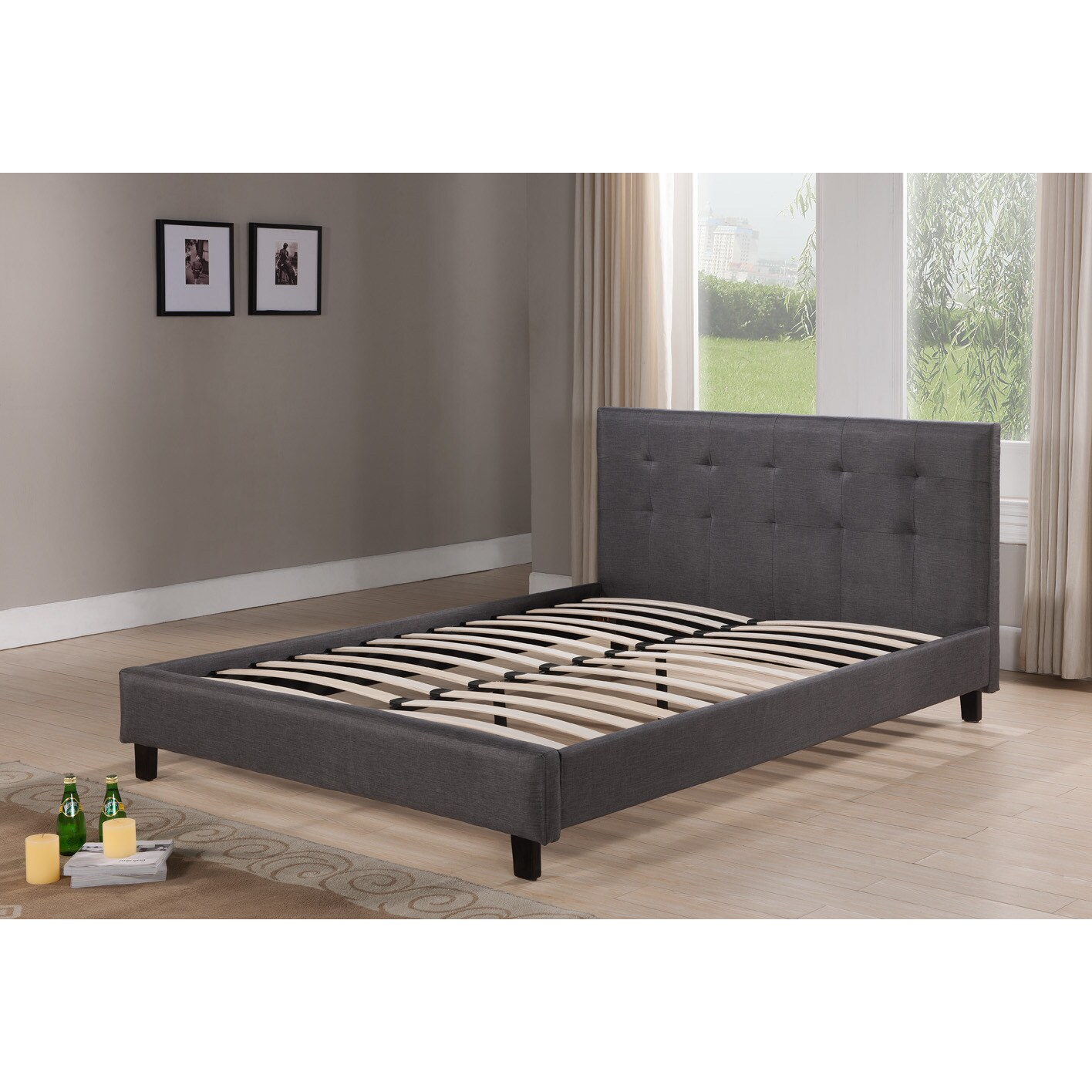 dg casa hudson grey platform bed free shipping today overstock