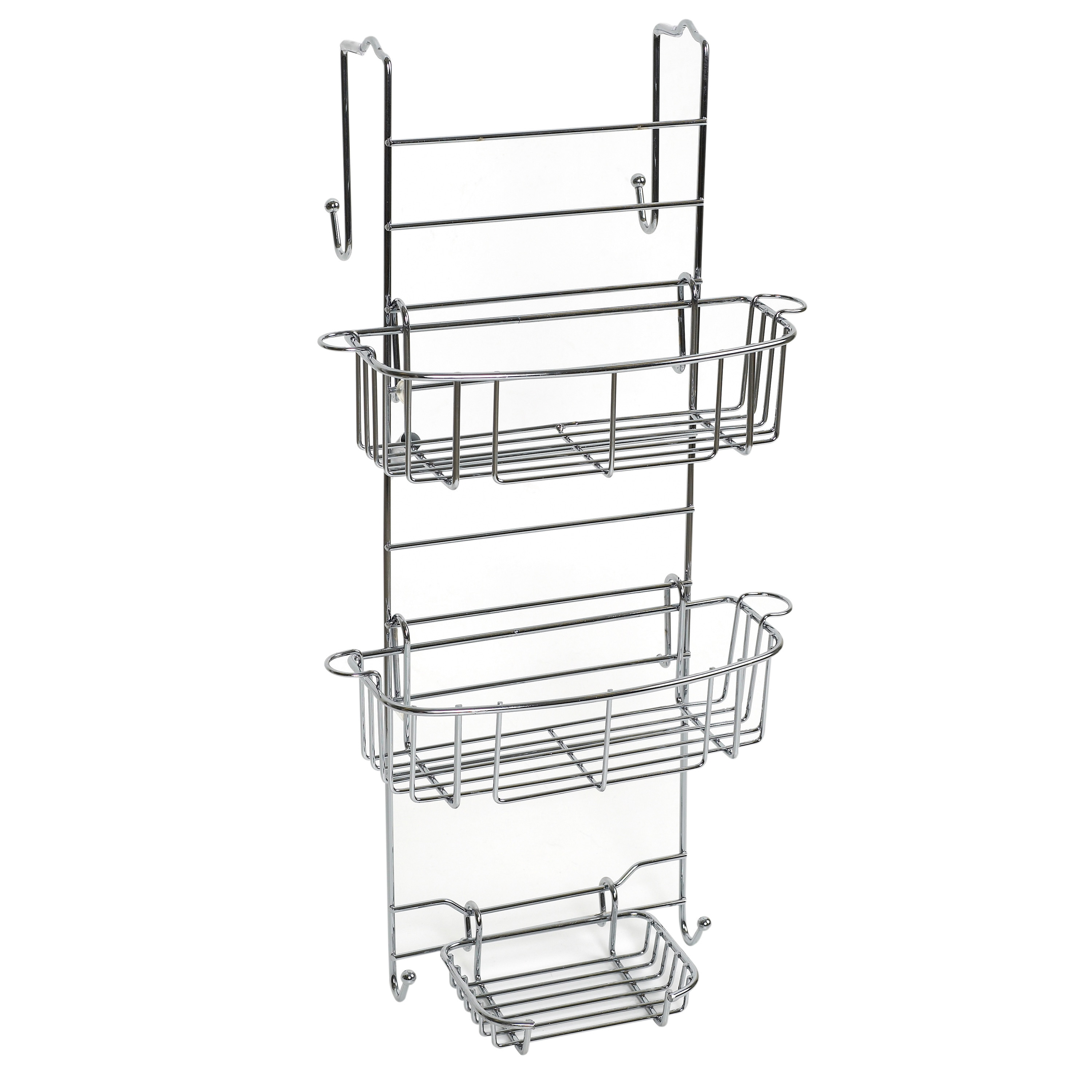 contemporary stainless bathroom shelves caddy shower over expandable steel zenith itm showerhead shampoo products