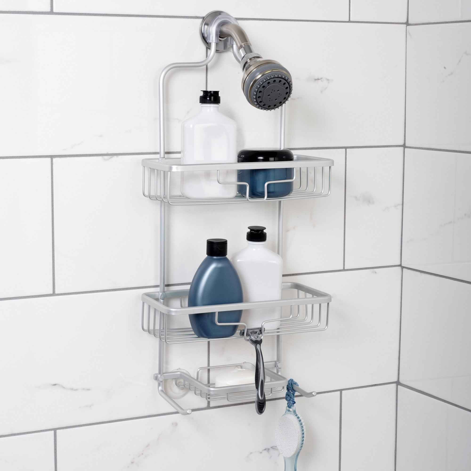 Shop NeverRust Aluminum Frame Large Shower Caddy - Free Shipping On ...