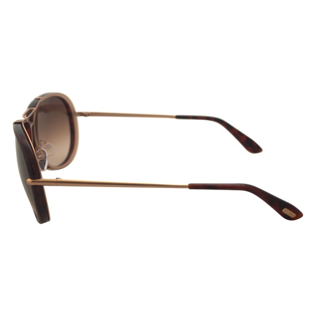 b02ff23cf725d Shop Tom Ford Unisex  TF 109 Cyrille 28K  Aviator Sunglasses - Free  Shipping Today - Overstock - 9515295