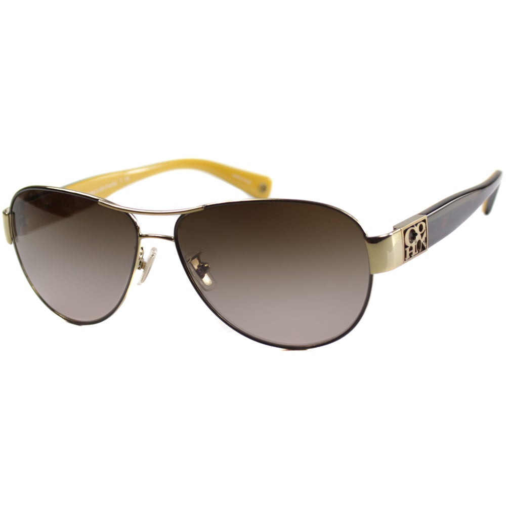 8f0439f190d81 ... low price shop coach womens hc 7009q l024 charity 9056 13 aviator  sunglasses free shipping today