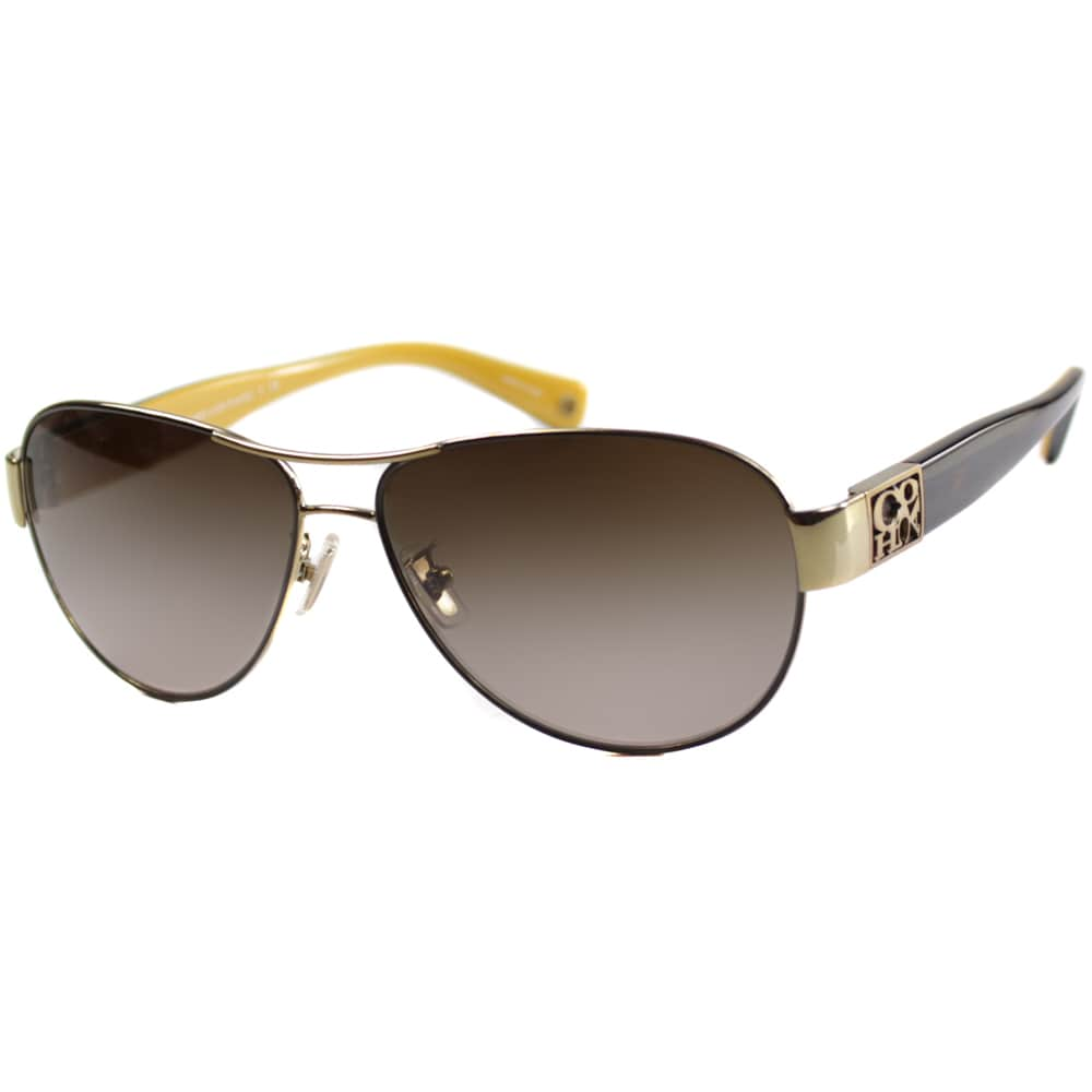 5961f3abef07 Shop Coach Women's 'HC 7009Q L024 Charity 9056/13' Aviator Sunglasses -  Free Shipping Today - Overstock - 9515321