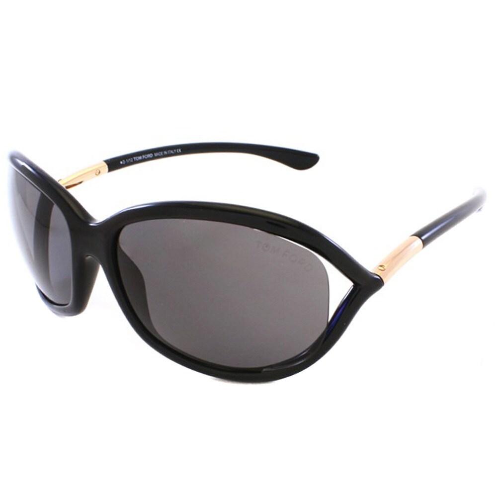 c34d9e3a51a Tom Ford Women s  TF8 Jennifer 01D  Shiny Black Polarized Sunglasses