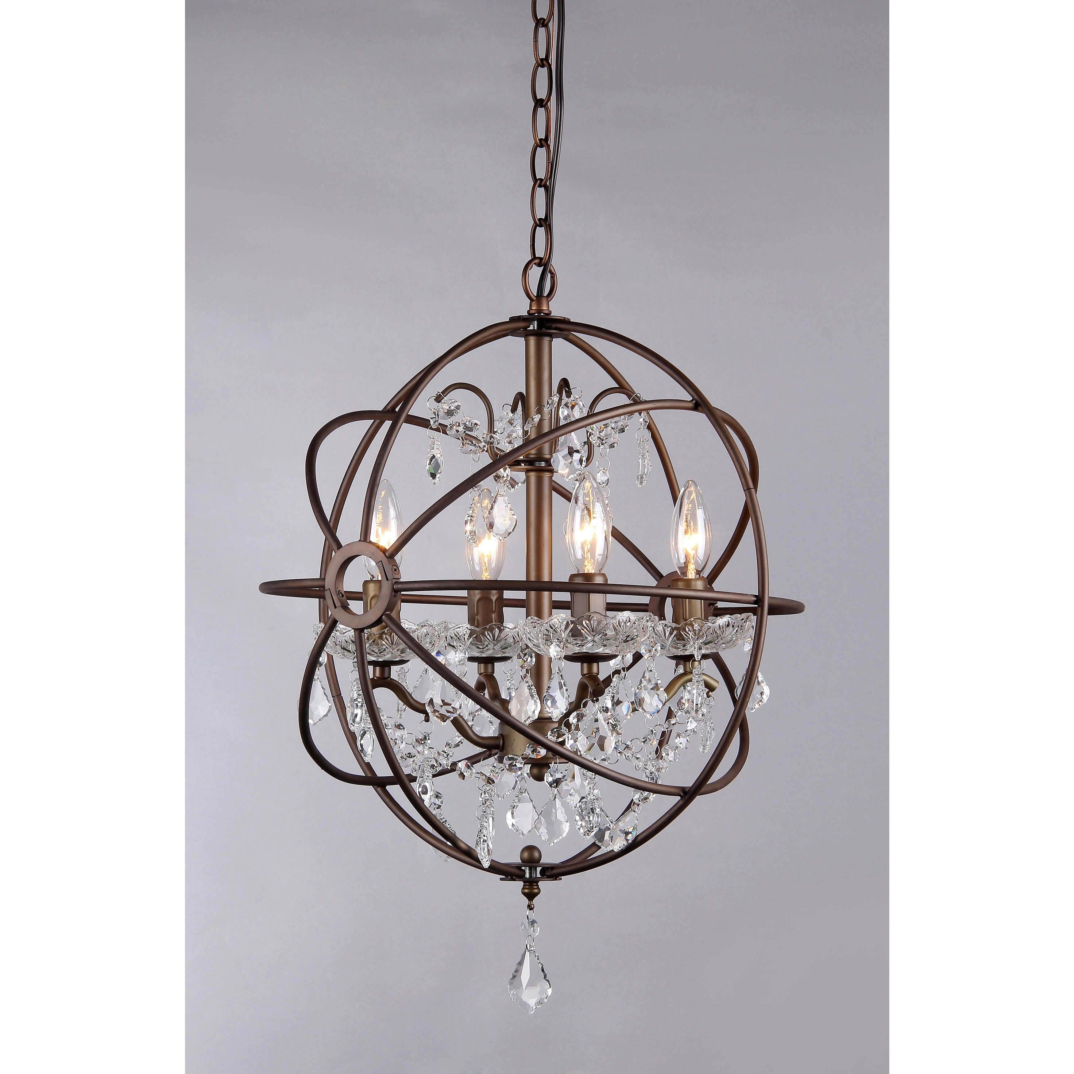 Edwards antique bronze 16 inch 4 light crystal chandelier free edwards antique bronze 16 inch 4 light crystal chandelier free shipping today overstock 16696171 arubaitofo Image collections