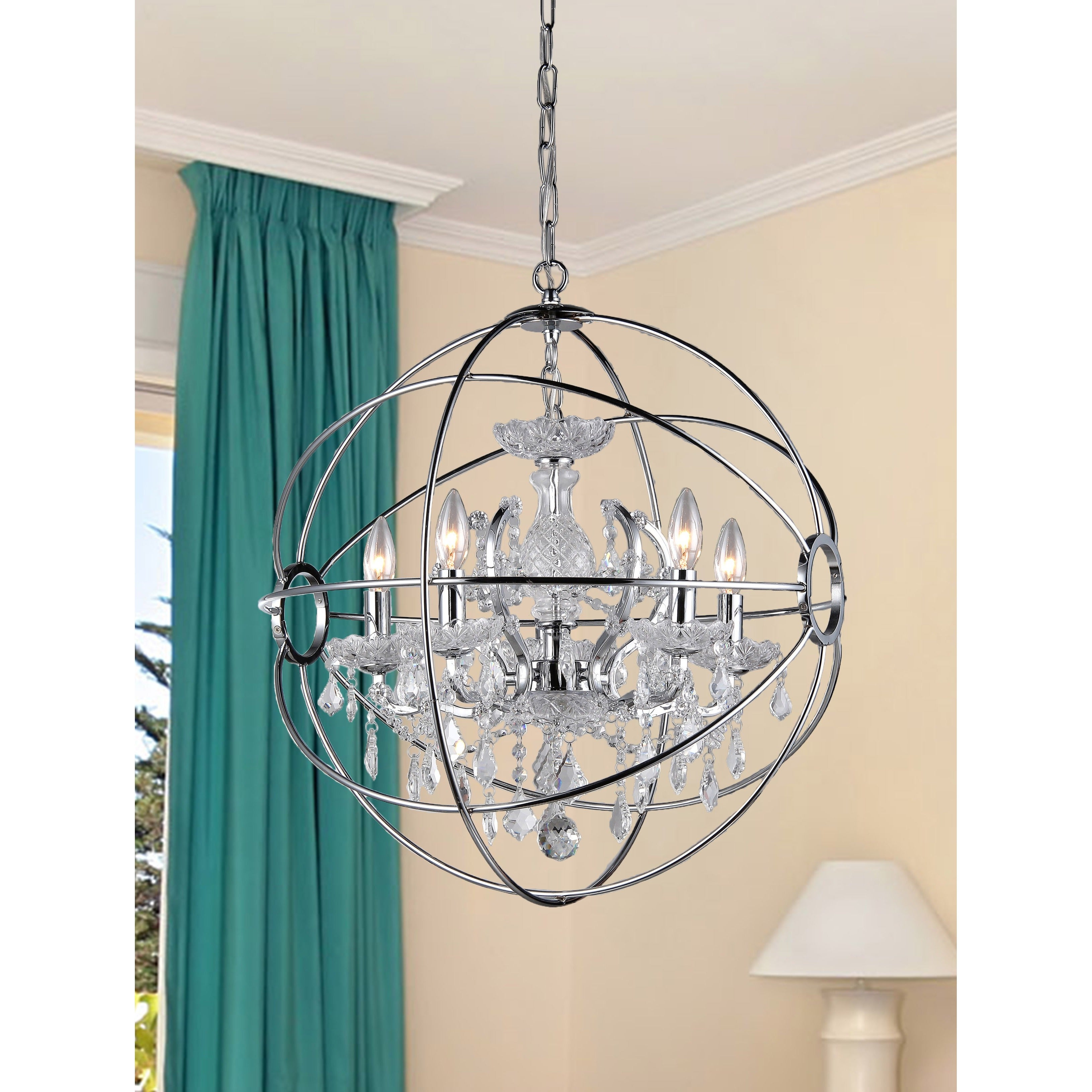 Saturn s Ring 16 inch Chandelier Free Shipping Today Overstock