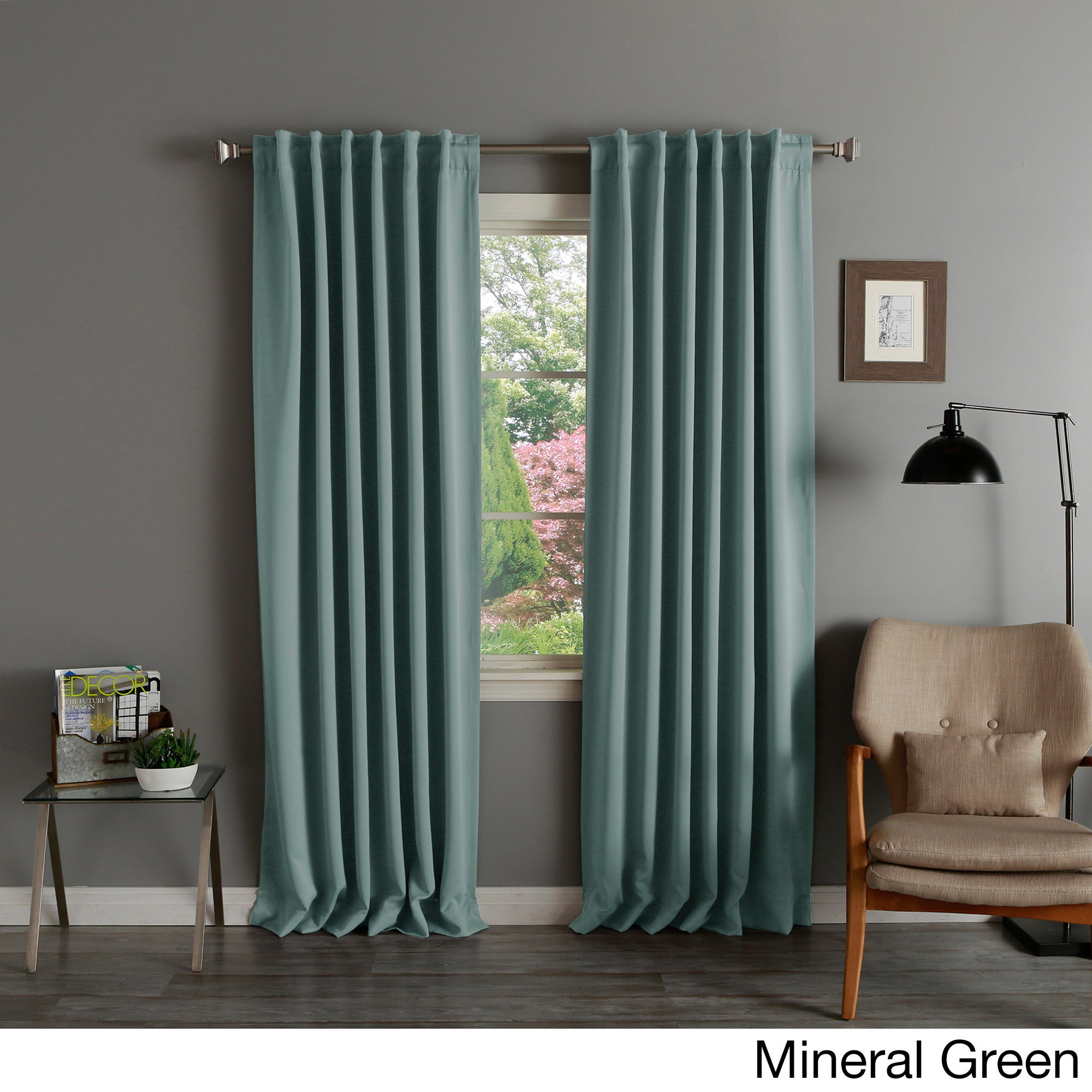 Solid Insulated Thermal Blackout Curtain Panel Pair On Free Shipping Today 9521982