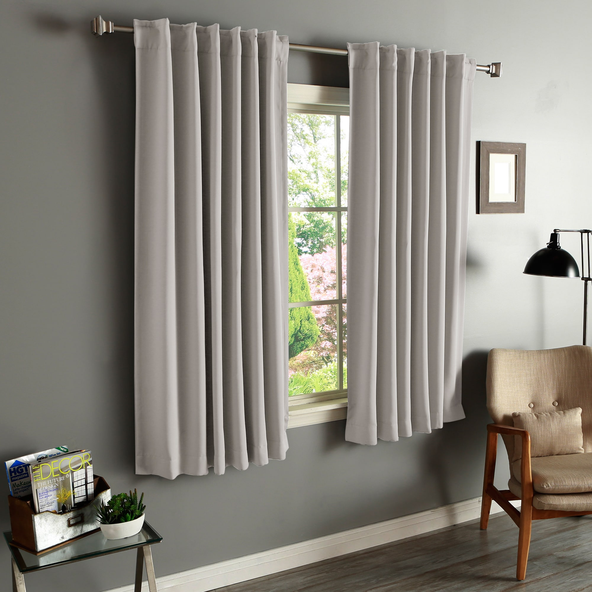 solid pin forrester panels waterfall panel pocket curtain rod sheer