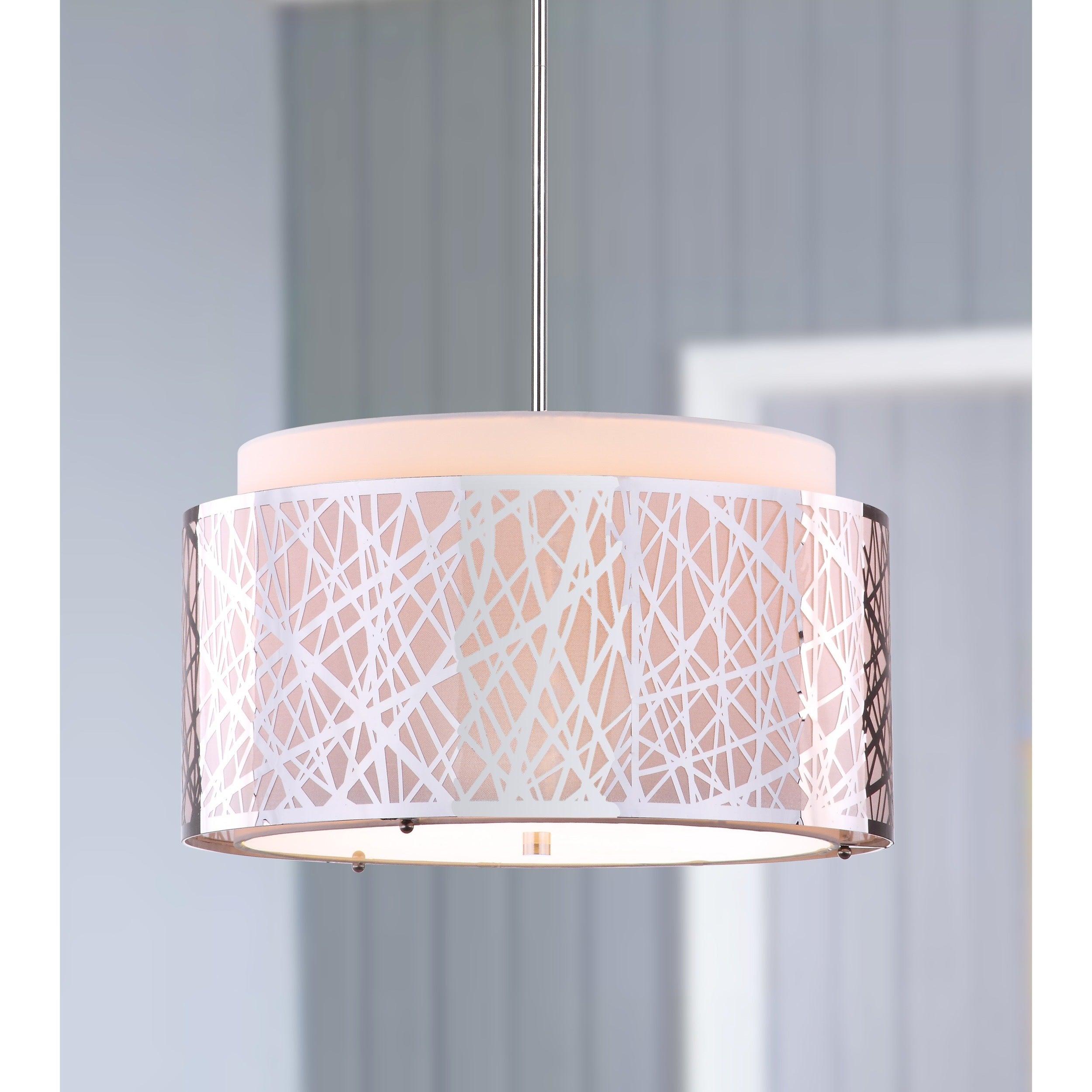 Shop Safavieh Lighting 20 Inch Adjustable 3 Light Double Tree Chrome  Pendant Lamp   Free Shipping Today   Overstock.com   9525135
