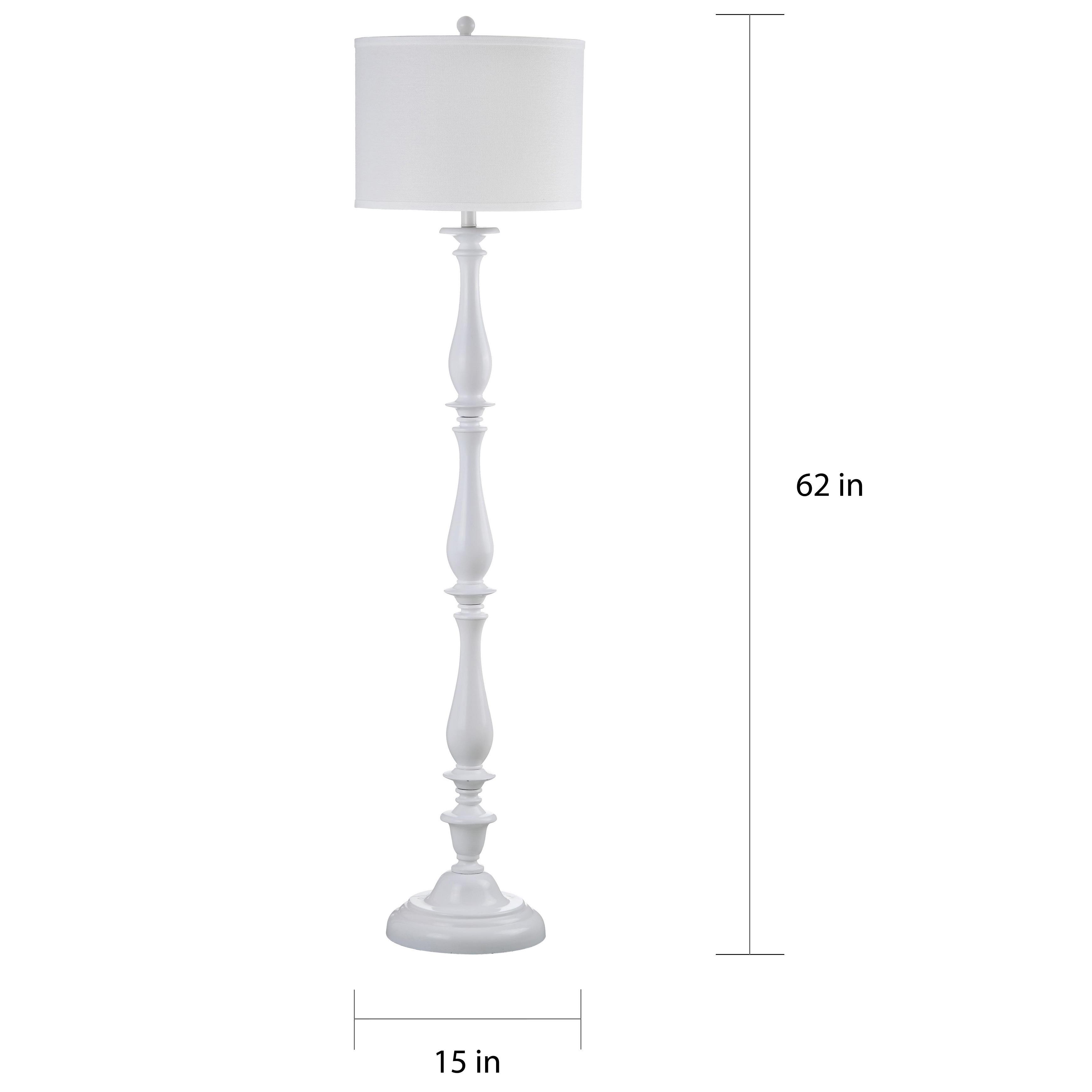 Shop Safavieh Lighting 62 Inch Bessie Candlestick White Floor Lamp