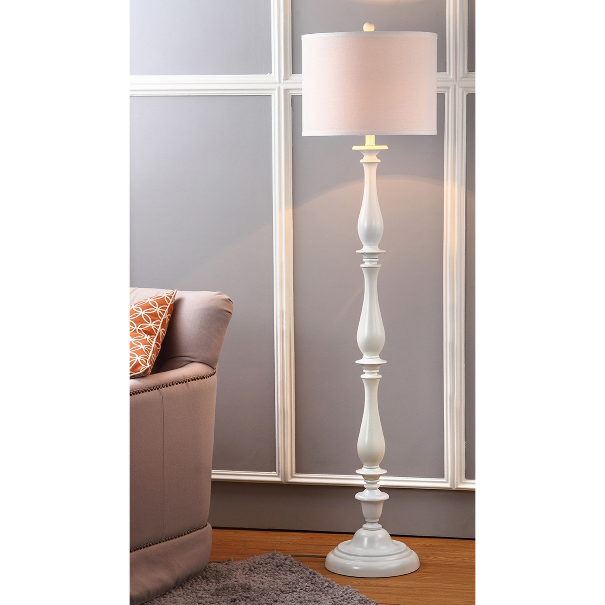 Shop safavieh lighting 62 inch bessie candlestick white floor lamp shop safavieh lighting 62 inch bessie candlestick white floor lamp on sale free shipping today overstock 9525155 aloadofball Image collections