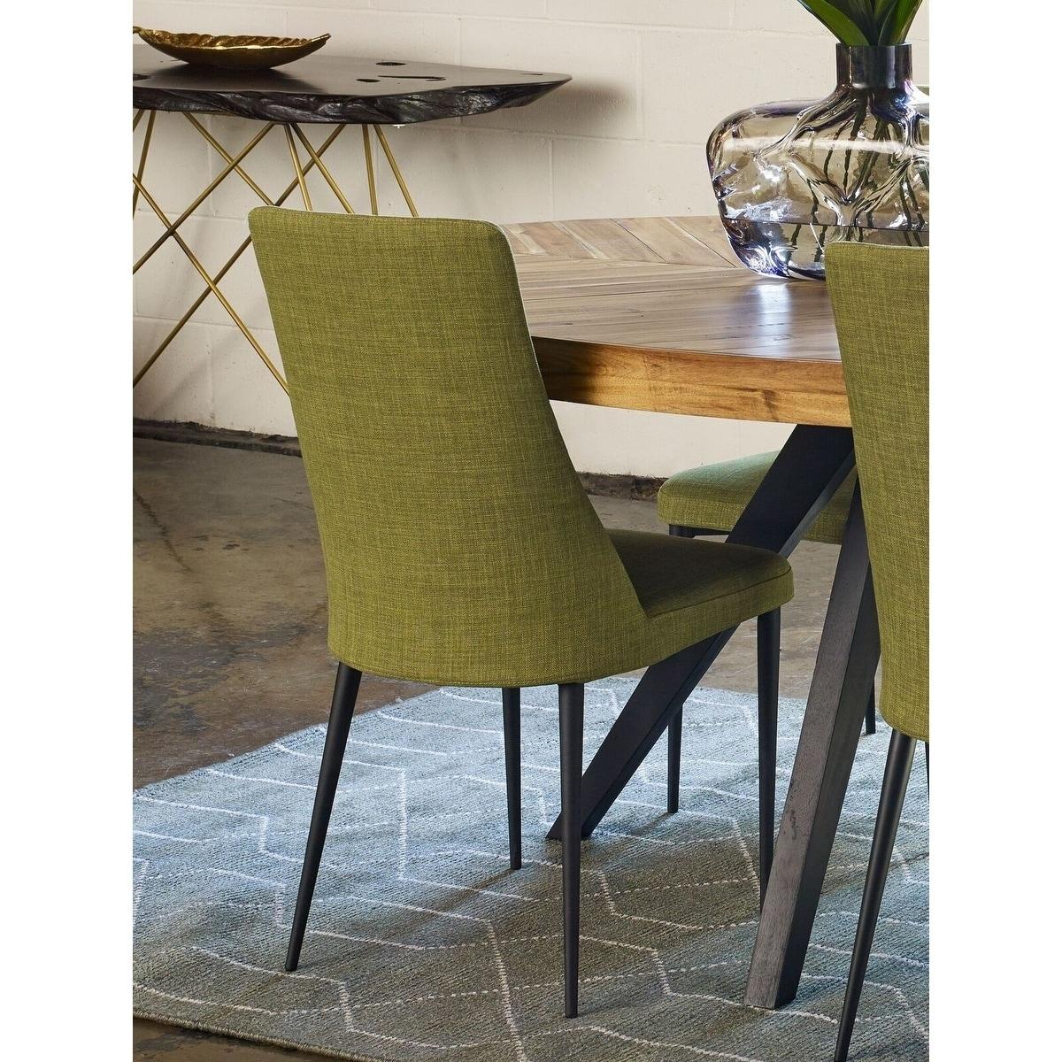 Aurelle Home Manini Modern Green Dining Chair (Set Of 2)