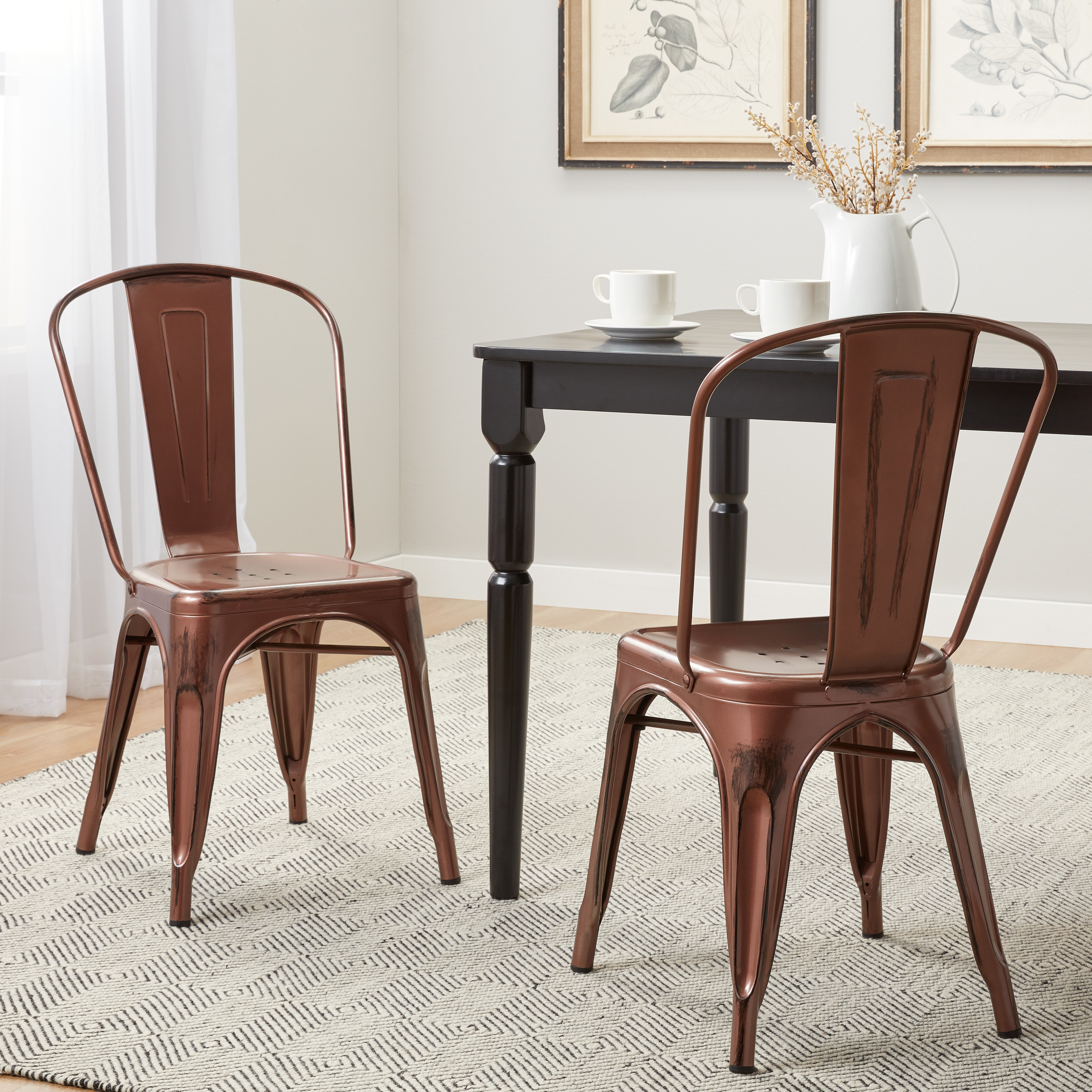 Genial Shop Tabouret Brushed Copper Bistro Dining Chairs (Set Of 2)   Free  Shipping Today   Overstock.com   9526575