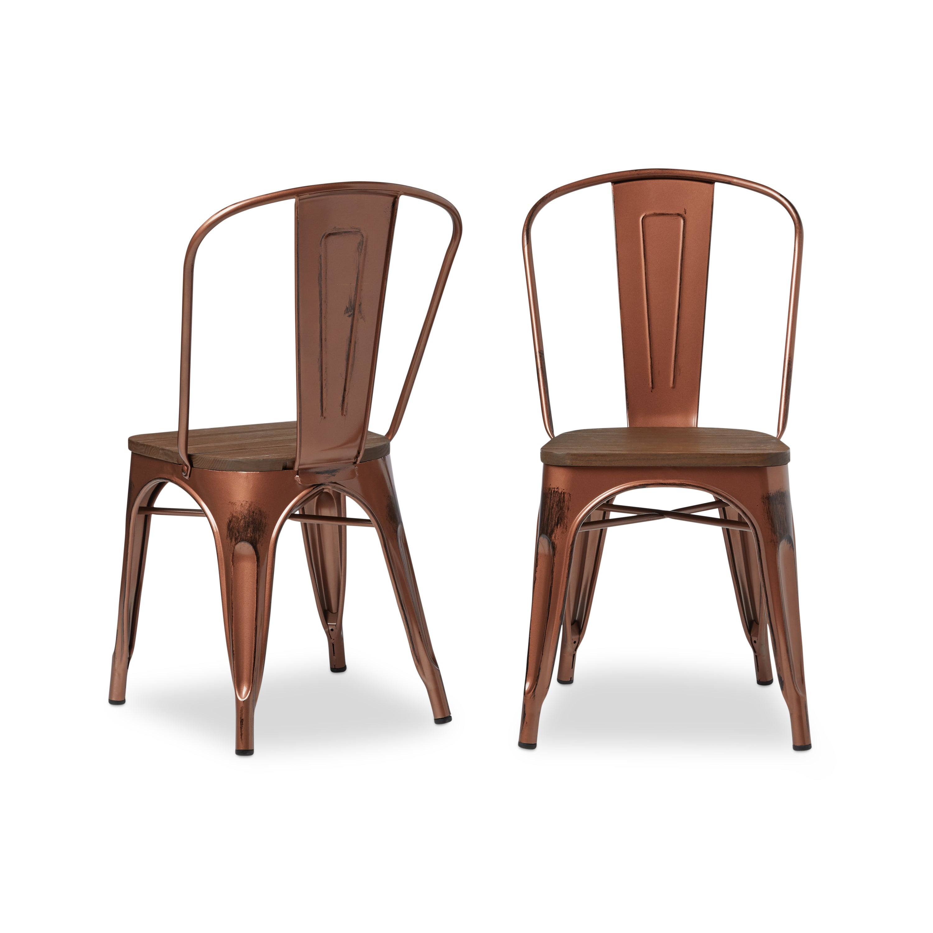 Carbon Loft Tabouret Brushed Copper Wood Seat Bistro Chairs (Set Of 2)    Free Shipping Today   Overstock   16706414