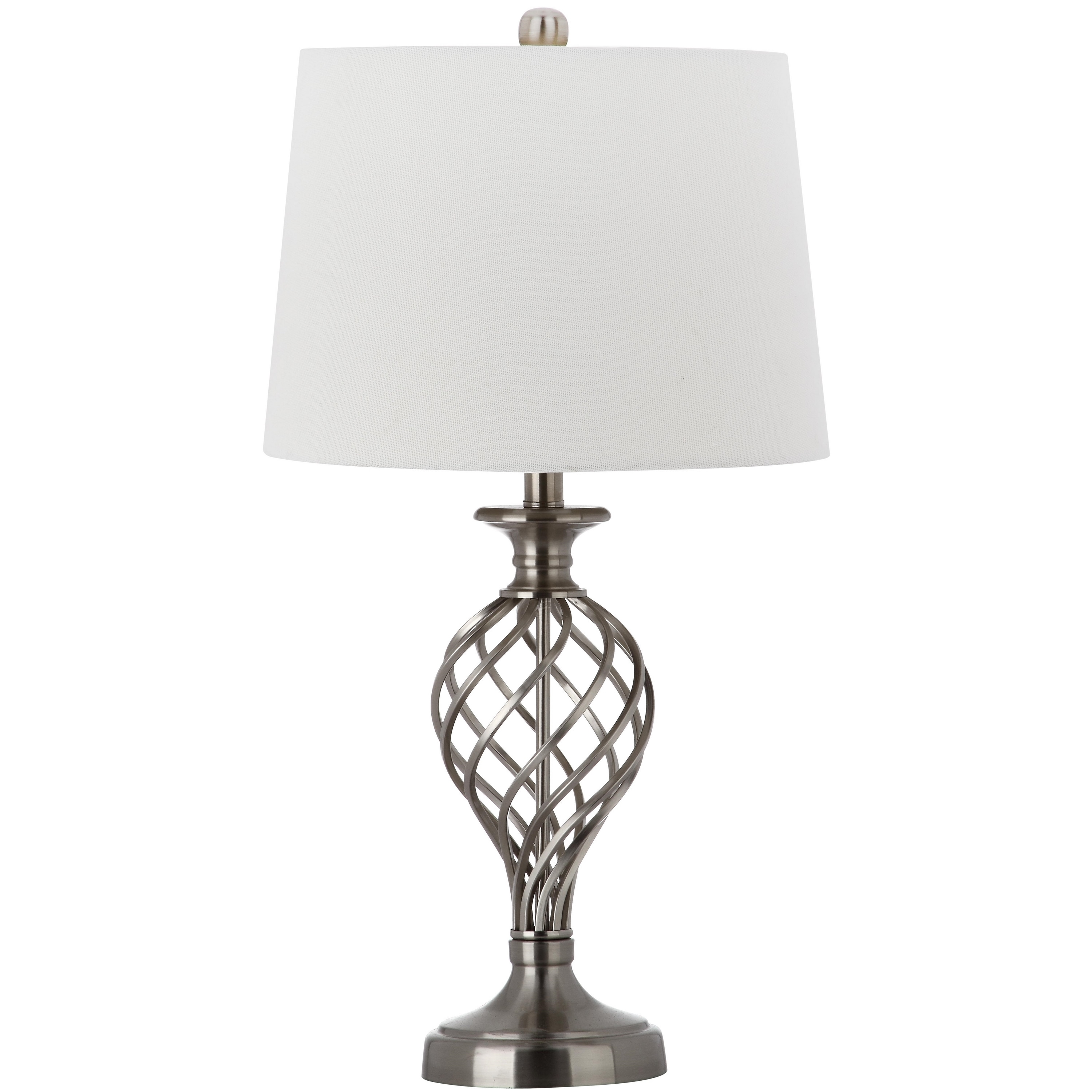 Shop Safavieh Lighting 26 75 Inch Lattice Urn Nickel Table Lamp Set