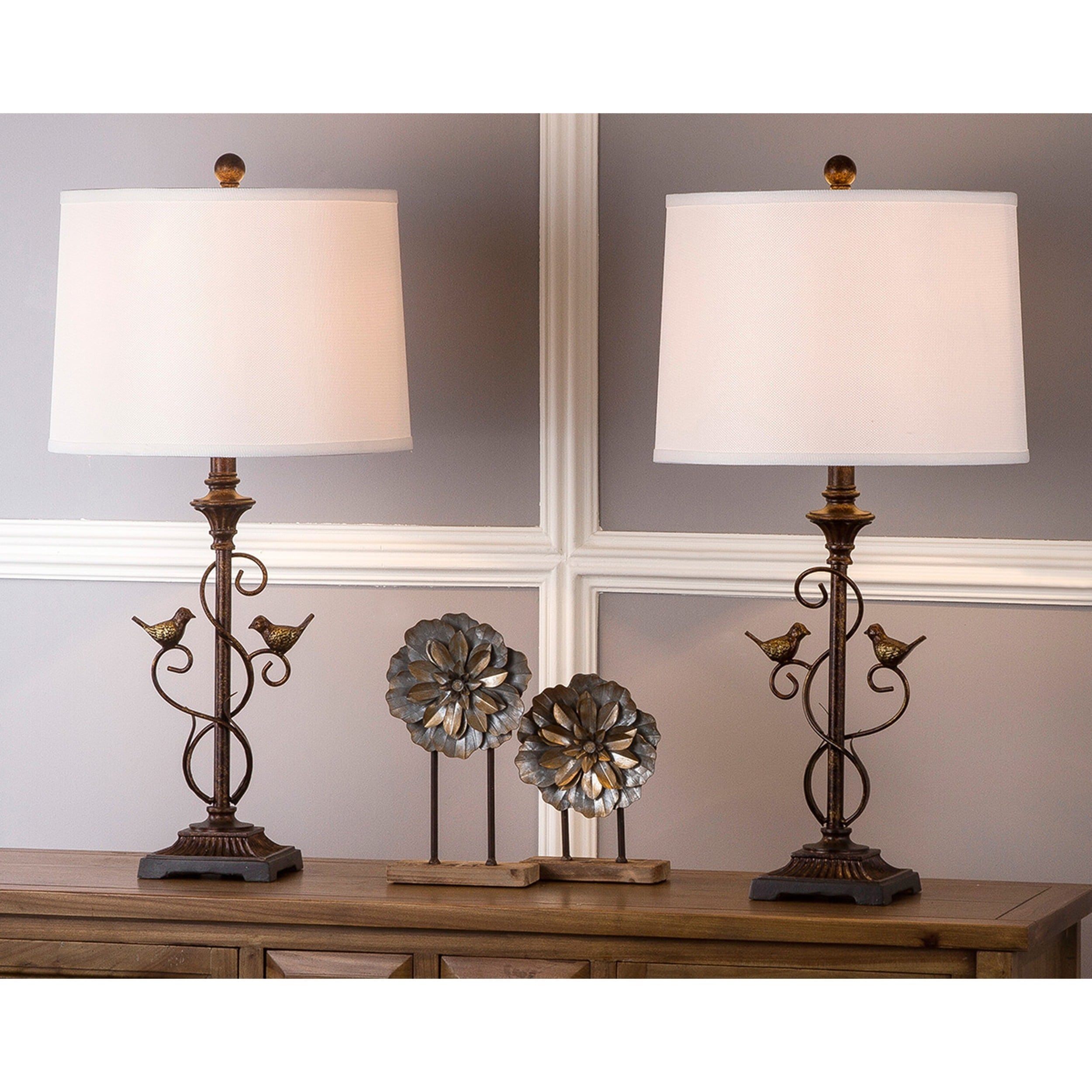 Safavieh Lighting 28 Inch Birdsong Oil Rubbed Bronze Table Lamp Set Of 2 On Free Shipping Today 9527328