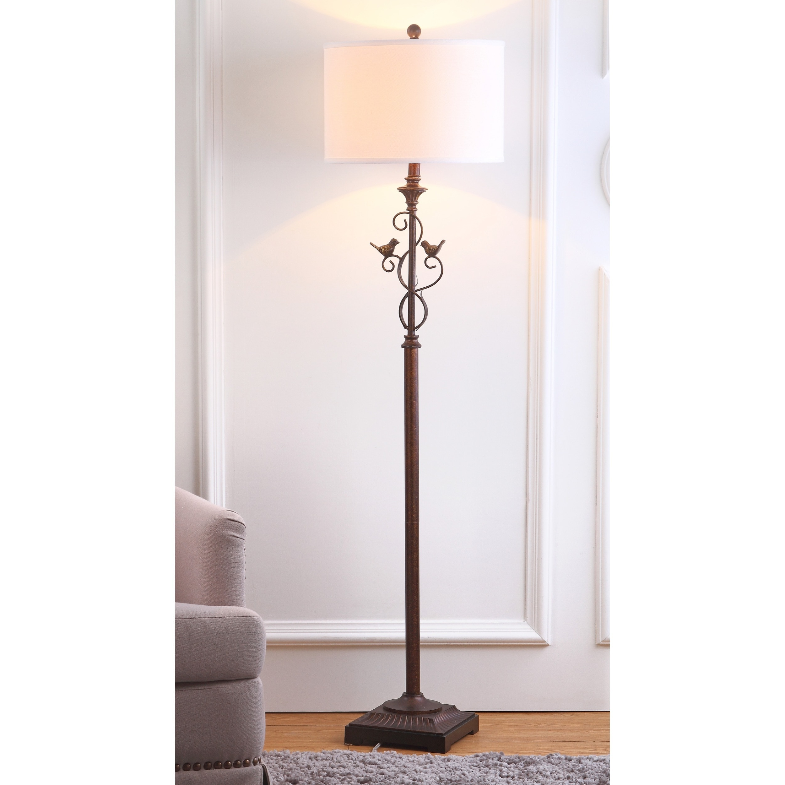 in lighting burlap floors iron works bay bronze shelves floor arcs wrought vintage base hampton franklin lamp arm swing oil rubbed exciting with antique shade tremont