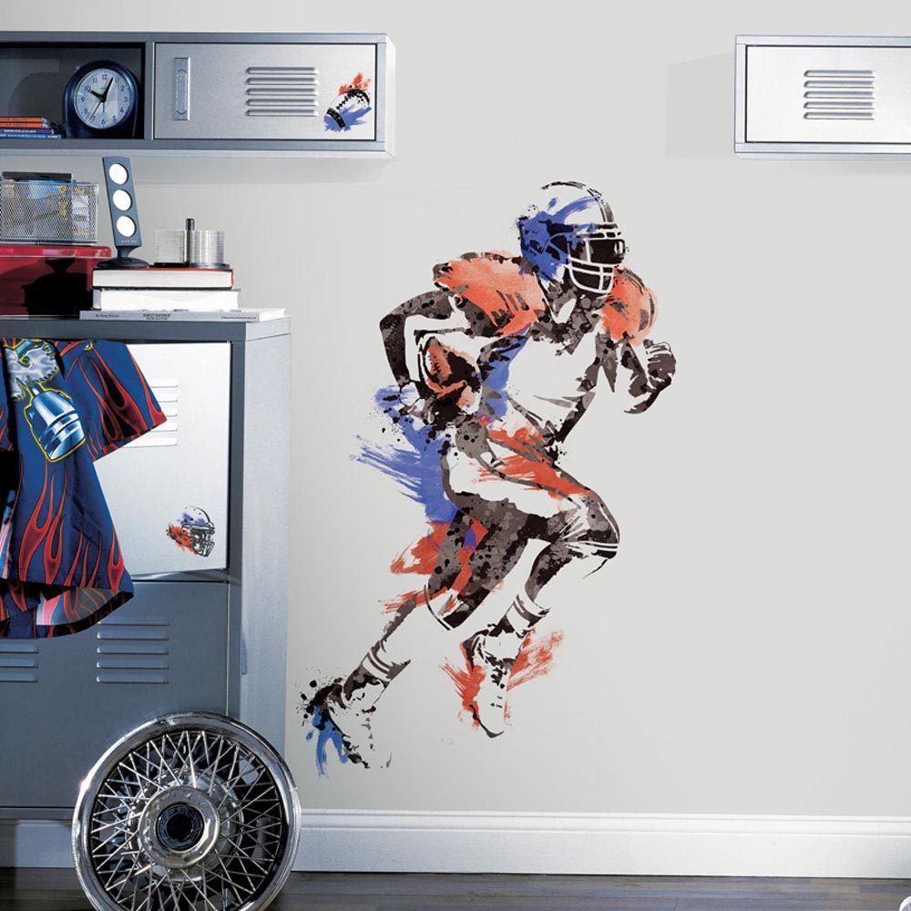Shop Mens Football Champion Peel And Stick Giant Wall Decals Free