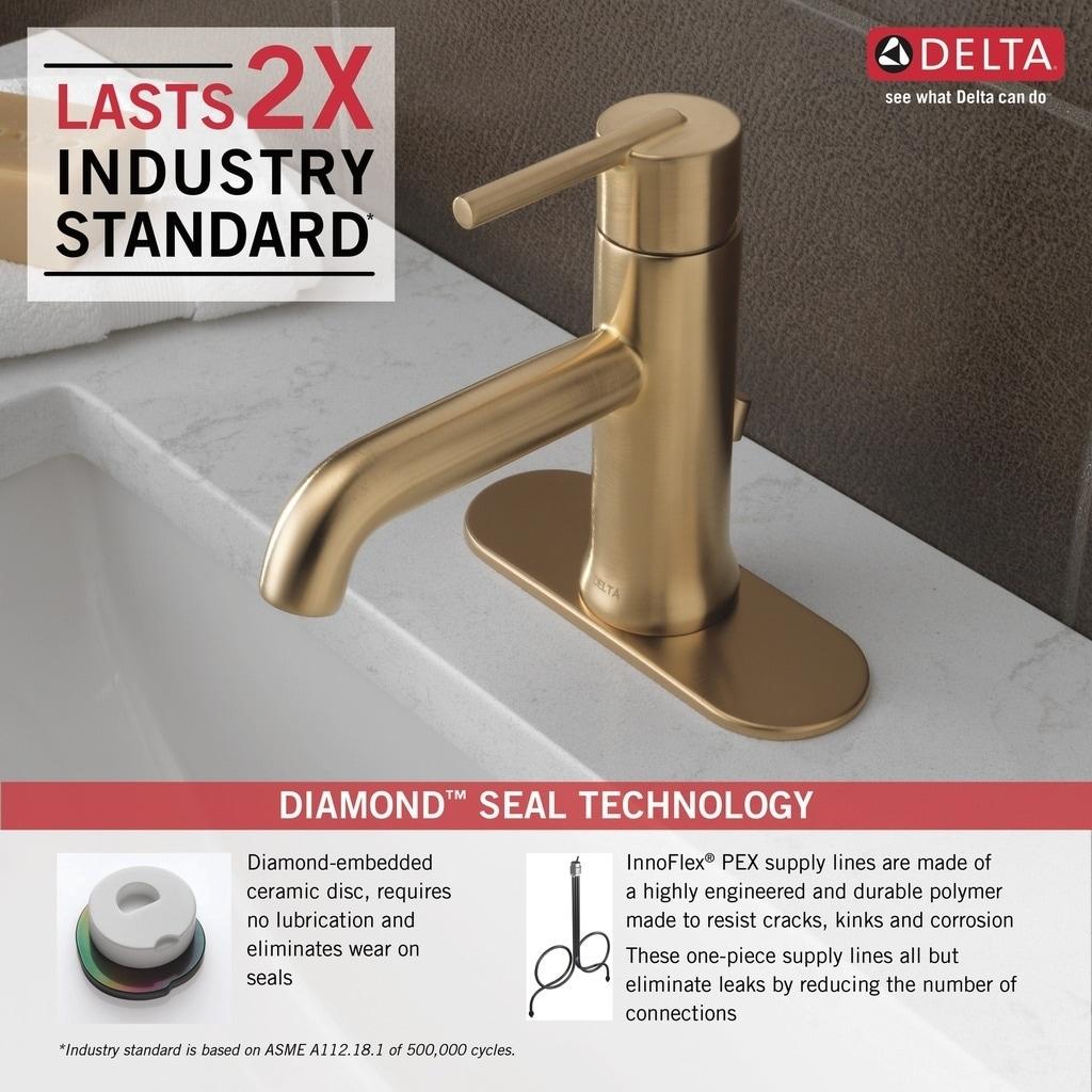 Shop Delta Trinsic Single Handle Bathroom Faucet 559LF-CZMPU ...