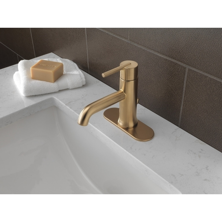 chrome hole p delta single handle arc in lever high with home faucet addison en bathroom
