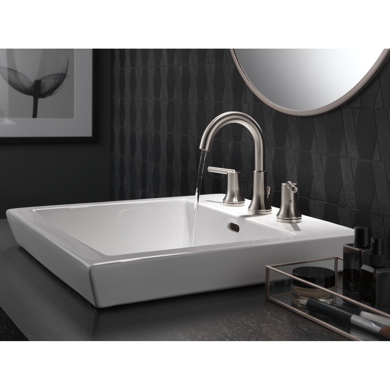 Shop Delta Trinsic Two Handle Widespread Bathroom Faucet 3559-SSMPU ...
