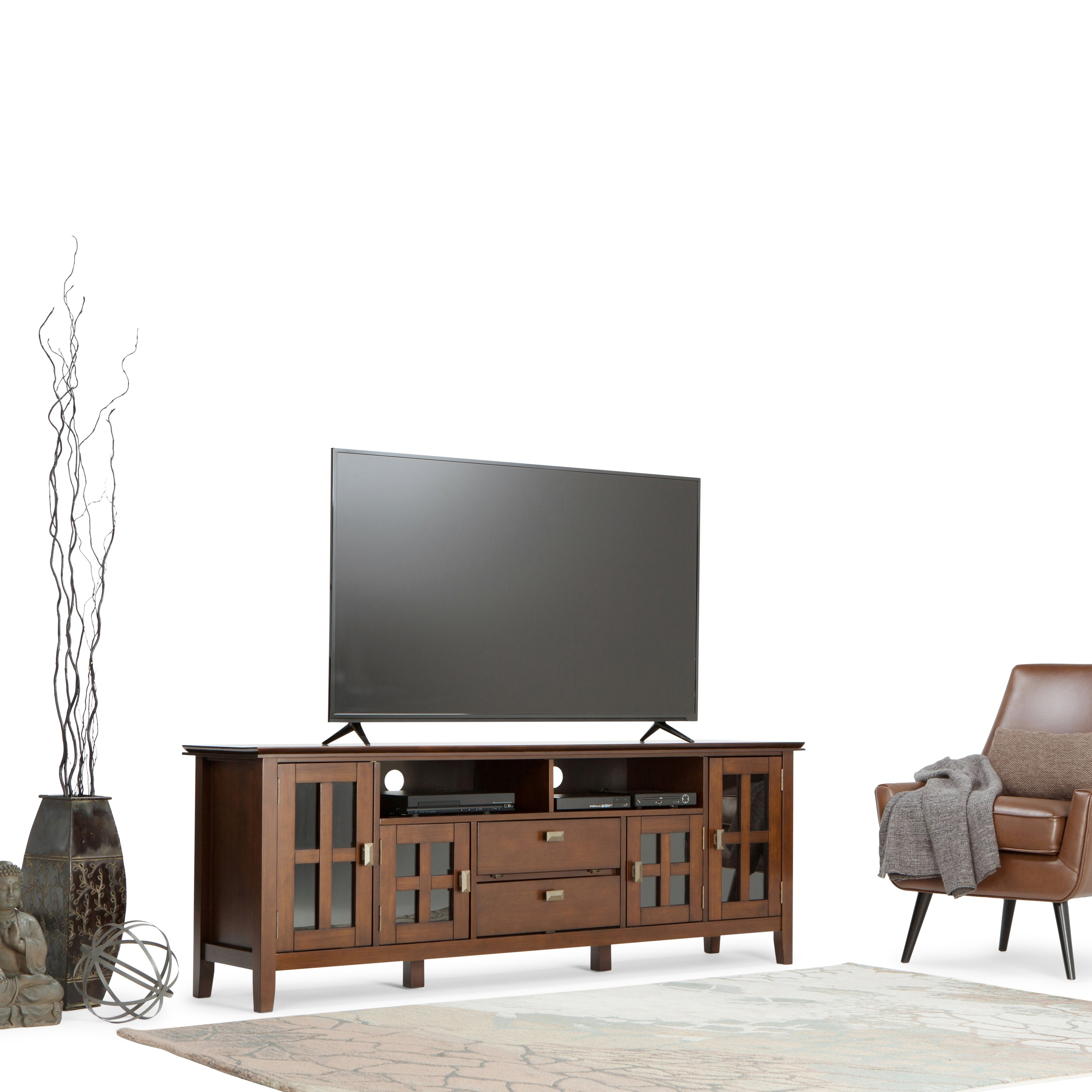 Shop Wyndenhall Stratford 72 Inch Wide Tv Media Stand For Tv S Up To