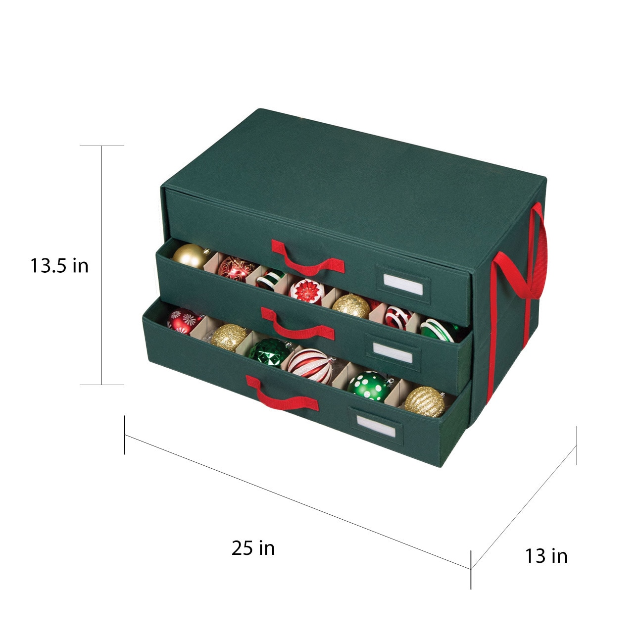 Shop Richards Homewares 3 Drawer 63 Cell Holiday Ornament Storage Chest    Free Shipping On Orders Over $45   Overstock.com   9536063